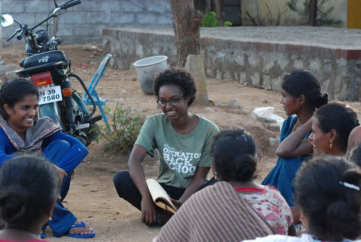 Student during study abroad in India