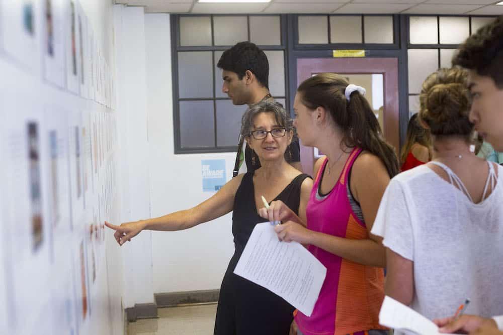 Professor Yolanda Padilla with students