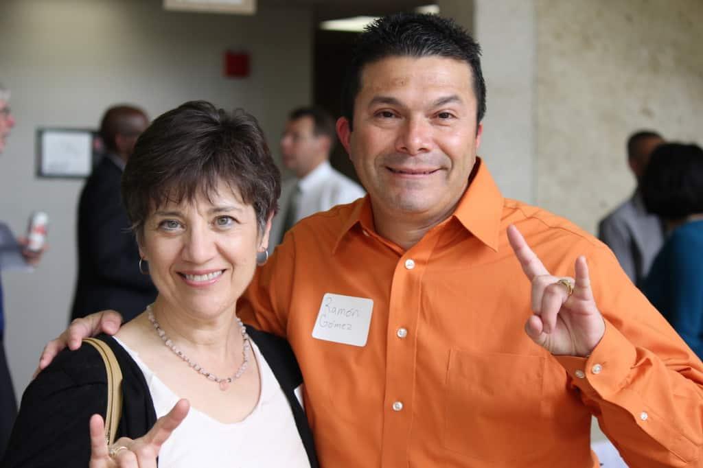 Sarah Swords and Ramón Gómez