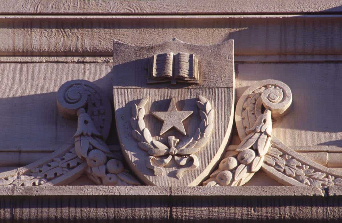 Architectural detail showing UT Seal