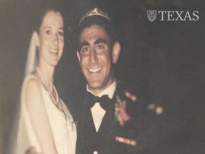 Military couple wedding photo